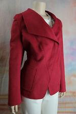 $3995 New RENA LANGE Scarlet Red Wool Angora Cashgora Jacket 46 16