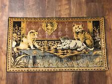 Vintage Cat Kitten Wall Tapestry Rug Runner Soft Velvet 20x38