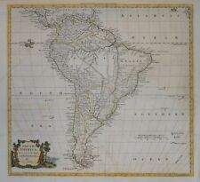 SOUTH AMERICA BY THOMAS KITCHIN FOR GUTHRIE'S NEW GEOGRAPHICAL GRAMMAR C.1790.