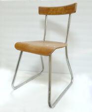 chaises école en bois et métal design industriel vintage années 50 70 1950 loft