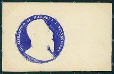 Militari Bersaglieri Alessandro La Marmora Rilievo cartolina QT5590