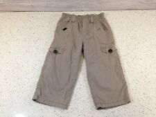 Boys Catimini Cargo Style Beige Lined Trousers 18 Months