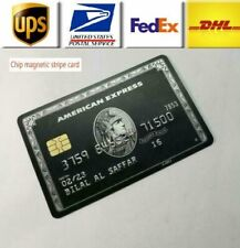 American Express Customized Centurion Black Card Embossed with stripe + chip