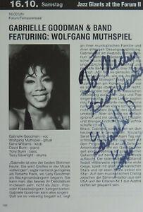 Gabrielle Goodman, TV Bühne, Autogramm Heftseite handsigniert 14x20 cm, #78