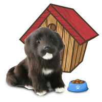 Realistic Puppy Labrador Dog Plush Animal Model Decor Ornament Photography Prop