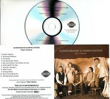 ALISON KRAUSS & UNION STATION Paper Airplane UK 11-trk numbered promo test CD