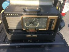 Vintage Zenith Transoceanic H500 Wave Magnet Short Wave Tube Radio Works Dirty