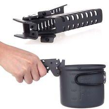Outdoor Aluminum Camping Cookware Picnic Pot Pan Bowl Gripper Clip Hand Clamp