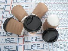PZ 100 BICCHIERI TERMICI IN CARTONE ML 250 CON COPERCHIO CAFFE' PAPER COFFEE CUP