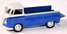 VW Volkswagen T1 Camion à benne Pick-Up à plateau 1951-67 bleu & 1 blanc:43