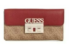 Guess Logo Luxe Signature Clutch Wallet Brown