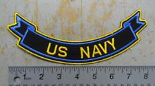 "8"" US NAVY BOTTOM TAB / SCROLL PATCH FOR BACK OF JACKET #USP3116"