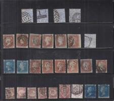 Great Britain: Early Plating Lot, Sc #4/101, Used, Cat. $646.00 (S16972)