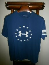 Under Armour Large HeatGear Loose 13 Stars Sleeve Flag Crew Neck -Fast Ship