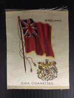 Vintage Zira Cigarettes England Flag Tobacco Card Silk