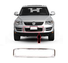 NEW VW TOUAREG FRONT BUMPER LOWER CENTER GRILLE FRAME SURROUND 2007 - 2010