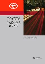 2013 Toyota Tacoma Owners Manual User Guide Reference Operator Book