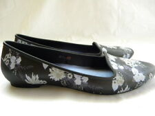 CROCS ICONIC COMFORT Blue Floral Flats Slip On Size 10 W