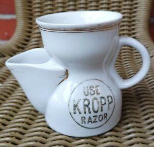 Antique Vintage Barber's Original Advertising Shaving Mug Kropp Razor