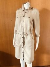 Collar Linen Dresses for Women with Pockets