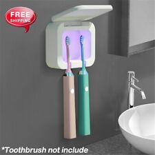 UV Light Toothbrush Holder Sanitizer Box Wall Mount Bathroom Sterilizer Suction