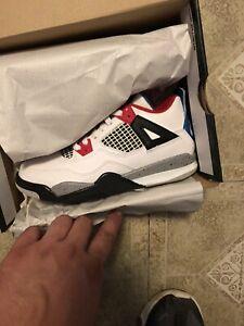 Nike Air Jordan 4 Retro PS  'What The 4'  BQ7669-146  Youth Size 1.5Y