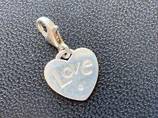 THOMAS SABO Charm Club 'Love'Heart Charm With Cubic Zirconia