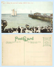 Fishing Pier & Yacht Landing Asbury Park New Jersey c1910 Postcard