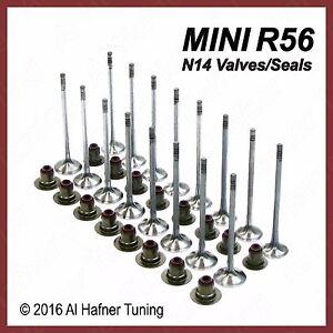 Mini Cooper R56 N14 Intake & Exhaust Valve set + seals 11347587470, 11347547187
