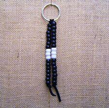 Key Chain Accessory Pony Beads POW MIA Colors Men Woman