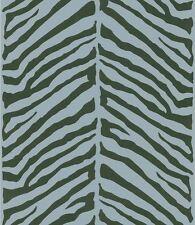 Contemporary Raised Brown on Herringbone Blue Zebra Wallpaper 56644928