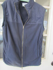 Southern Tide mens fleece/nylon navy blue full zip vest size Small EXC