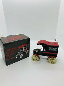 Vintage ERTL Texaco 1905 Ford Delivery Car Locking Bank Diecast Collectible New