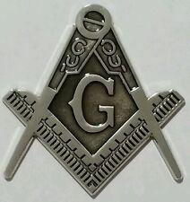 Freemason Masonic cut-out car emblem in silver with Black