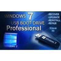 WINDOWS 7 PRO✅64GB USB 32/64bit✅Install Recover Restore PC Fix PROFESSIONAL