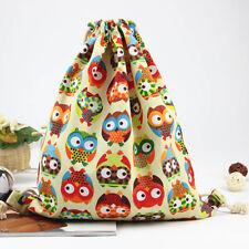 New Owl Pattern Drawstring Backpack Shopping Travel Bag Backpack For Women Girl