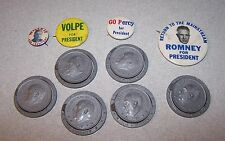 Vintage George ROMNEY - VOLPE - WILLKIE - PERCY For President Pinback Button Lot