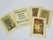 40's Three Mexican Painters: Orozco, Rivera, Siqueiros 10 Reproductions Murals