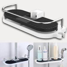 Bathroom Pole Shelf Shower Storage Caddy Rack Organiser Tray Holder