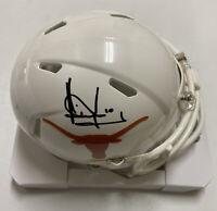 VINCE YOUNG Signed UT Texas Longhorns Football Mini Helmet Beckett BAS WF64514