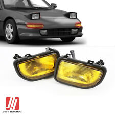 Fits Toyota MR2 1991-1995 Front Bumper Driving Fog Lights Lamps Kit Yellow