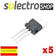5 x L7805 Regulador Voltaje 2% 5V 1.5A TO-220 7805 Arduino Fuente L7805ACV T0016