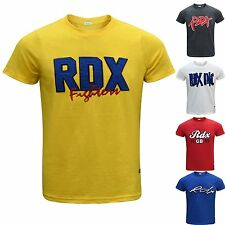 RDX Men's Crew Neck T Shirt Cotton Casual Short Sleeve Top Gym Training Vest