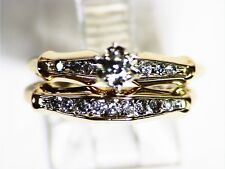 PRE-OWNED 14K DIAMOND RING SET SIZE 4-3/4-5  NOT SCRAP
