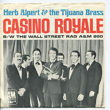 HERB ALPERT & THE TJB 'Casino Royale / Wall  '  45 RPM PICTURE SLEEVE (POP)