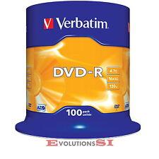 100 VERBATIM DVD -R o +R 16X 4.7GB ENVIO 24/48Hs TARRINA ORIGINALES NO 25 50 200