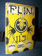 Fun, 1925, 115 Parlor Games and Guessing Contests, Shower, Party, Birthday