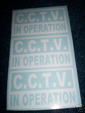 CCTV IN OPERATION TAXI WINDOW STICKERS (set of 3)