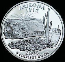 2008 S Arizona Mint Silver Proof Statehood Washington Quarter from US Proof Set