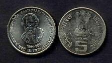 INDIA 5 RUPEES 2011 Rabindranath Tagore UNC
